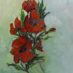 Flori-pictura ulei pe panza;