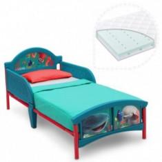 Set pat cu cadru metalic Finding Dory+saltea Dreamily - Pat tematic pentru copii