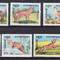 Cambodgia 1984 fauna caini MI 577-583 MNH w47 - Timbre straine, Nestampilat