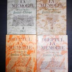 IORDAN CHIMET - DREPTUL LA MEMORIE 4 volume - Studiu literar