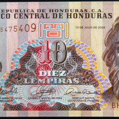 Bancnota 10 Lempiras - HONDURAS, 2006 * Cod 443 ---- UNC DIN FASIC! - bancnota america