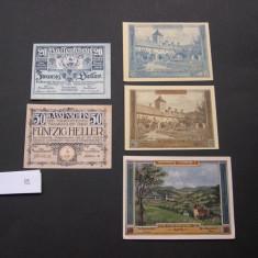 Lot 5 buc. notgeld, gutschein, kassenschein WALDHAUSEN si TRAISKIRCHEN diferite, Europa
