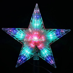 Stea Luminoasa cu LEDuri Multicolore 220V Varf de Brad TO - Ornamente Craciun