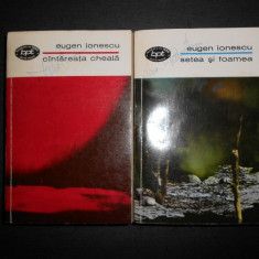 EUGEN IONESCU - CANTAREATA CHEALA / SETEA SI FOAMEA 2 volume, contin 13 piese - Carte Teatru