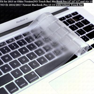 Husa de protectie pt tastatura US Macbook Pro Air Retina 13 15 17 mac - CLEAR foto