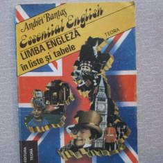 Andrei Bantas - Limba Engleza In Liste Si Tabele - Curs Limba Engleza teora
