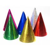 Coifuri party metalizate, div. culori, 12 buc / set