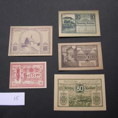 Lot 5 buc. notgeld, gutschein KREMSMUNSTER, ZWETTL si ELDBACH diferite Austria, Europa