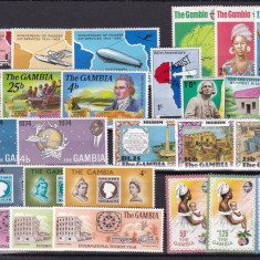 Gambia 1969/78 13 serii complete MNH w47 - Timbre straine, Nestampilat