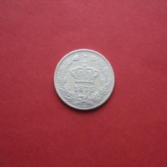 M. 50 bani 1873, argint - Moneda Romania