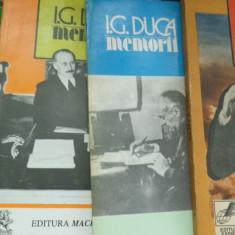 I.G.Duca - Memorii 4 volume - Istorie