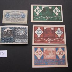 Lot  5  buc. notgeld, gutschein, kassenschein SONNBERG, St. MARTIN  si  WEIS, Europa