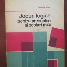 Jocuri logice pentru prescolari si scolari mici