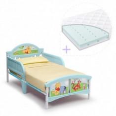 Set pat cu cadru metalic Winnie the Pooh+saltea Dreamily - Pat tematic pentru copii