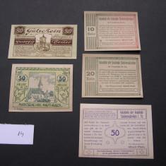 Lot 5 buc. notgeld, gutschein, NIEDERNEUKIRCHEN, MAUTHAUSEN si St. GEORGEN, Europa