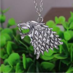 Pandantiv Medalion Lantisor Game of Thrones Direwolves - Pandantiv fashion