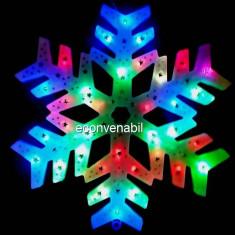 Decoratiune Luminoasa de Craciun Fulg de Nea 40cm LEDuri Multicolore - Ornamente Craciun