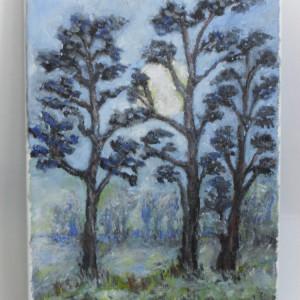 In noapte 1-pictura ulei pe panza;MacedonLuiza
