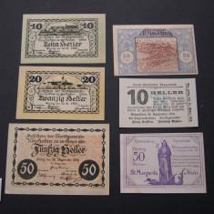 Lot 6 buc. notgeld, gutschein NEUHOFEN, WINDHAG, KLANGENFURT si WEISSENKIRCHEN, Europa