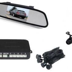 "Senzori parcare + CAMERA Marsarier cu display in oglinda 5"" AL-241017-1"