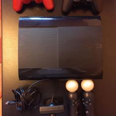 PS3 500GB+2 controllere+move+30 jocuri originale - PlayStation 3 Sony