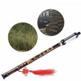 Flaut Instrument atnic chinezesc din Bambus negru (Bawu)
