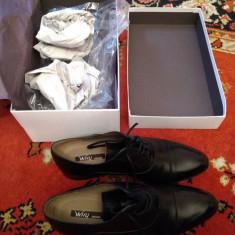 Pantofi bărbați piele Why Denis, Marime: 42, Culoare: Negru