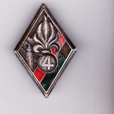 bnk ins Franta - Legiunea Straina - Insigna regiment 4 infanterie