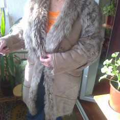 Blana din piele naturala nou, marca Shearling mar. 48-50 - cojoc dama