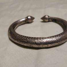 Bratara argint etnica TRIBALA afghana VECHE splendida VINTAGE de efect SUPERBA - Bijuterie veche