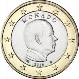 Moneda de 1 euro Monaco 2016 Albert II, UNC, Europa, Cupru-Nichel