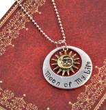 """Pandantiv Medalion Lantisor Game of Thrones Khal & Khaleesi """"Moon of My Life"""""""