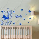 Sticker Winnie The Pooh - * Text Personalizat *