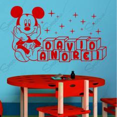 Sticker - Mickey  *Personalizat cu Nume*