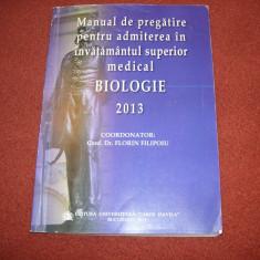 Biologie - Manual de pregatire pentru admitere in invatamantul superior medical - Teste admitere facultate