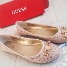 Pantofi GUESS Noi Marimea 38 - Pantof dama Guess, Culoare: Rose, Cu talpa joasa