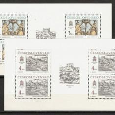 Cehoslovacia.1987 Motive istorice din Bratislava-coli mici KC.164 - Timbre straine, Nestampilat