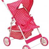 Carucior Pentru Papusi Pink Spotted