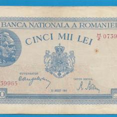 5000 lei 1944 22 august - Bancnota romaneasca