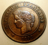2.915 FRANTA CERES 5 CENTIMES 1892 A, Europa, Bronz