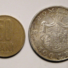 Banut de botez moneda argint Romania Regele Mihai 1944 12 grame - Moneda Romania