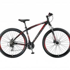 """Bicicleta MTB UMIT Camaro 2D ,culoare negru/Rosu, roata 29"""", aluminiu ,cadru 16""""PB Cod:2961016000, 21"""