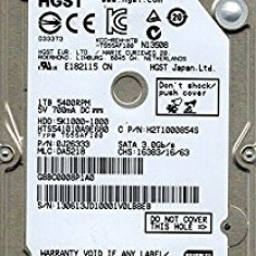 HDD SATA Hard disk Laptop Notebook 1TB Hitachi Travelstar 5K1000 HTS541010A9E680, Peste 1 TB, 5400, SATA2