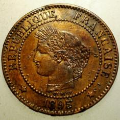 2.860 FRANTA CERES 2 CENTIMES 1895, Europa, Bronz