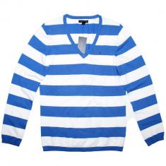 Bluza TOMMY HILFIGER Vee - Pulover, Bluze Dama, Femei - 100% AUTENTIC - Bluza dama Tommy Hilfiger, Marime: M, Culoare: Din imagine, Maneca lunga, Office, Bumbac