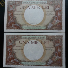 Bancnote romanesti 1000lei 1938 serii consecutive aunc - Bancnota romaneasca