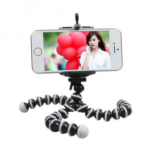 Trepied FLEXIBIL cu suport pentru TELEFON aparat foto video DSLR samsung iPhone