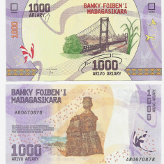 MADAGASCAR- 1000 ARIARY 2017- UNC!! - bancnota africa