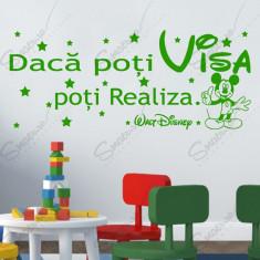 Sticker - Mickey - Daca poti visa...* Text Motivational *