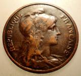 2.924 FRANTA 5 CENTIMES 1910, Europa, Bronz